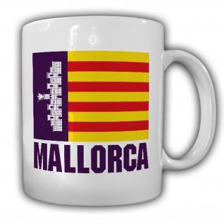 Mallorca Spanien Wappen Fahne Abzeichen Urlaub Insel Tasse #20151