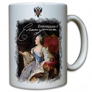 Tasse Katharina die Große Russland ????????? ??????? Jekaterina Welikaja #12229