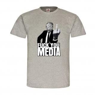 F* you media Donald Trump President USA Amerika Republikaner T-Shirt #20199