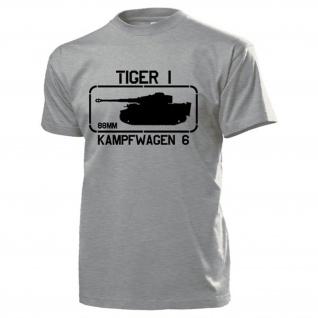 Kampfwagen 6 Tiger 1 Panzerkampfwagen Tiger Panzer 88mm SdKfz 181 T Shirt #15496