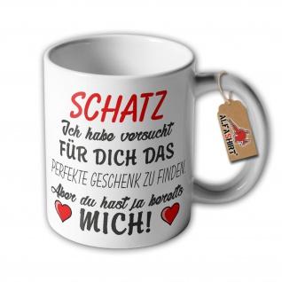 Tasse Beste Geschenk Valentinstag Perfekt Frau Liebe Freude Schatz #33420