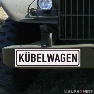 Magnetschild Kübelwagen für KFZ Fahrzeuge passend für Typ 181 Kübel #A166