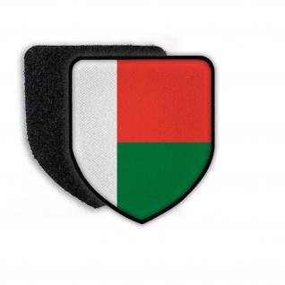 Patch Flagge von Madagaskar Landesflagge Fahne Land Wappen Staat Nation #21512