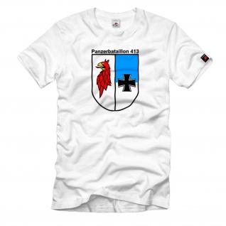 PzBtl 413 Panzerbataillon Kompanie Wappen Emblem T Shirt #1132