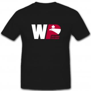 Polen Armee Wappen Abzeichen Polskie Wojsko- T Shirt #3706