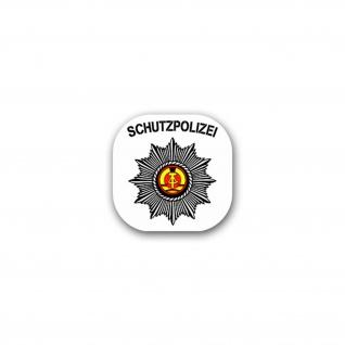 Aufkleber/Sticker Schutzpolizei DDR Gardestern Wappen Abzeichen 7x7cm A1841