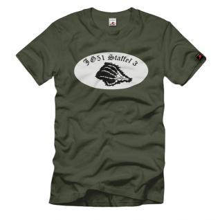 3 Staffel JG51 Mölders Jagdgeschwader Luftwaffe Einheit T Shirt#1700