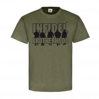 Infidel Brotherhood Einheit Fallschirmjäger Marines Bundeswehr T Shirt #20336
