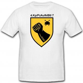 Kompanie Wappen Militär Abzeichen Bataillon Eule 4Kp PzAufklBtl7 7 TShirt #2377