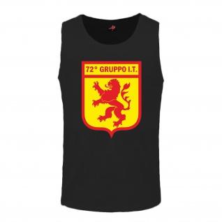72° gruppo IT Wappen Italien Militär Italia - Tanktop #7696