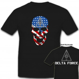 Delta Force USA Amerika Army United States Totenschädel - T Shirt #6895