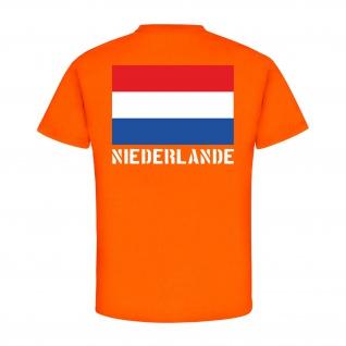 Niederlande Wappen Abzeichen Emblem Flagge Land Fahne - T Shirt #1533 - Vorschau 2