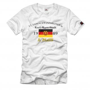 Langschwanztreffen DDR Karl Marx Stadt Ossi Lang Schwanz Humor Fun T-Shirt#33438