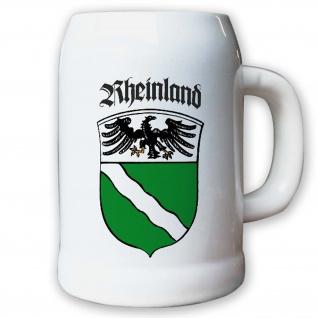 Krug / Bierkrug 0, 5l - Provinz Rheinland Landeswappen Stadtwappen #9493