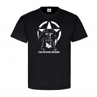 2ND Infantry Division Militär Armee Army Einheit Truppe Amerika T Shirt #23525