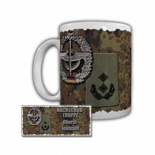 Tasse Nachschubtruppe Oberstleutnant Becher Rangabzeichen Dienstgrad #29796