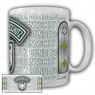 Tasse Hauptmann BGS Bundesgrenzschutz Kapitänleutnant Wappen Abzeichen #23688