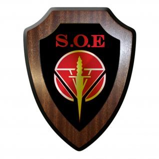 Wappenschild / Wandschild - Special Operations Executive SOE #12493