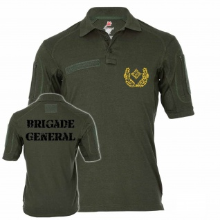 Tactical Poloshirt Alfa - Birgadegeneral Dienstgrad BW Schulterklappen #19111