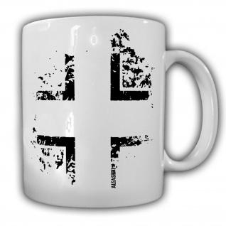 Wh Tasse Balkenkreuz Eisernes Kreuz Erkennungs Symbol Deutschland Panzer #22800