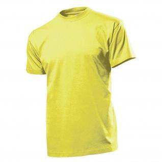 T-Shirt gelb Herren Rundhals 100% Ringspinn-Baumwolle Jersey 185 g-m² #12822