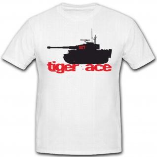 Tiger Panzer ACE Panzerkampfwagen- T Shirt #5388