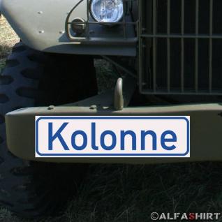 Magnetschild Kolonne Militär Fahrzeug KFZ Oldtimer Auto LKW Armee Army #A285