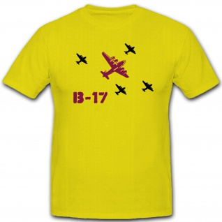 B 17 Bomber Flugzeug USAAF US Air Force Army America Amerika USA - T Shirt #1873