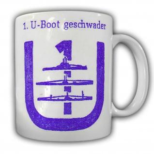 Tasse U-Boot Geschwader Bundeswehr Marine Wappen Unterseeboot Abzeichen #23832