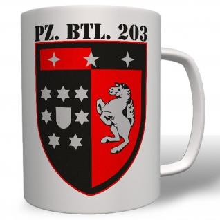 Pzbtl203 Bundeswehr Wappen Abzeichen Emblem Panzerbataillon 203 - Tasse #3799