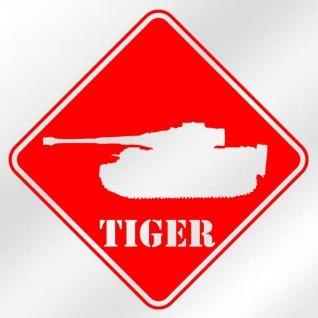 Aufkleber / Sticker Tiger Panzer Panzerkampfwagen VI 20x20cm #A036
