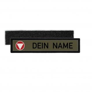Bundesheer Namenschild Patch mit Namen Österreich BH Aufnäher Feldjacke #24349