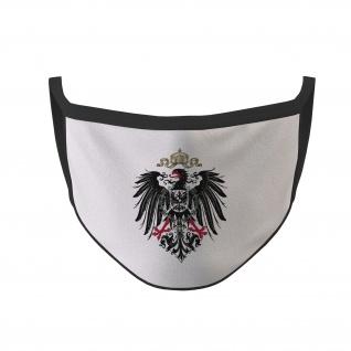 Mundmaske Deutsches-Kaiser-Reich Adler Deutschland schwarzase #35485