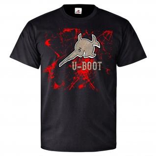 U-Boot Fisch Shirt Schiff Militär Wappen Logo - T Shirt #25903