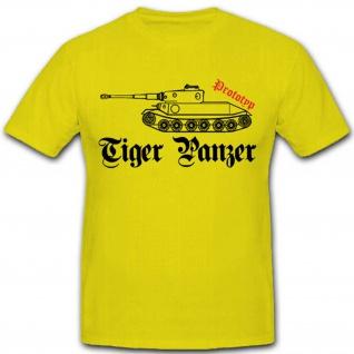 Tiger Prototyp Fahrzeug Panzerkampfwagen Wh Heer Panzer - T Shirt #2784