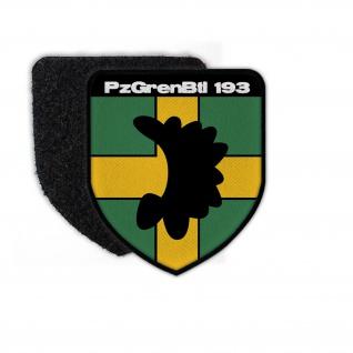 Patch PzGrenBtl 193 Panzergrenadier-Bataillon Abzeichen BW Bundeswehr #23759