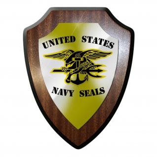 Wappenschild / Wandschild - United States Navy Seals Army Wappen #6907