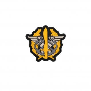 3D Rubber US Mariniers Corps Patch Gelb Navy Amerika Alfashirt 6 x 6 cm#26955