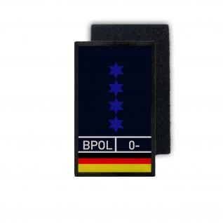 Polizeihauptmeister PHM PHMin Klett Dienstpatch Bundespolizei 9, 8x6cm #31395