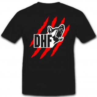 DHF 2 Diensthundeführer Hundeführer Deutscher Zoll Hund- T Shirt #7475