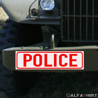 Magnetschild Police / Polizei für KFZ Fahrzeuge Kübel #A169