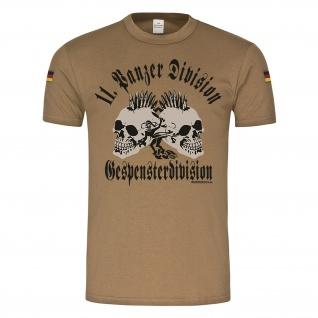 BW Tropen 11 Gespensterdivision Militär Soldaten Panzer Skull Tropenshirt #23372