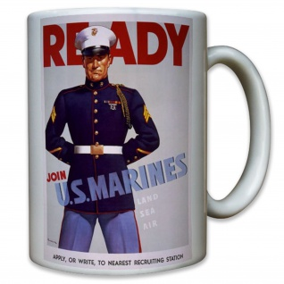 Join US Marines Usmc United States Marine Corps Usa Amerika Fahne - Tasse #7816