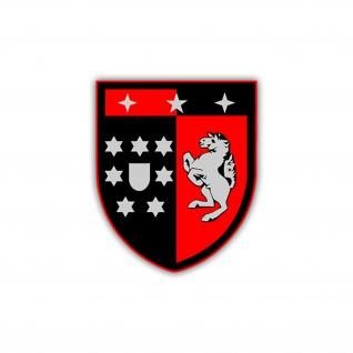 Aufkleber/Sticker PzBtl 203 Wappen Panzerbataillon Abzeichen 7x6cm A1227