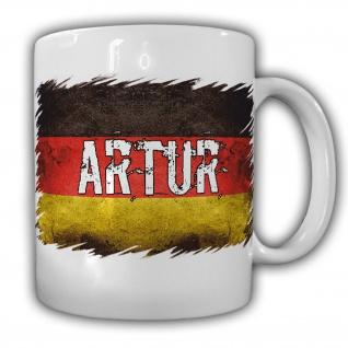 Tasse Artur Kaffeebecher Name Flagge Deutschland Fahne#22053