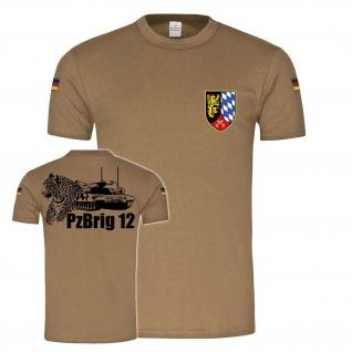 BW Tropen Panzerbrigarde 12 Amberg PzBrig Bundeswehr Abzeichen Wappen #24470