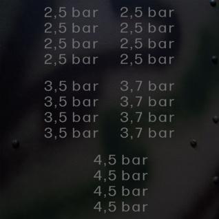 Aufkleber/Sticker Reifendruck Set in bar Kotflügelaufkleber 1, 65x7, 5 cm A659