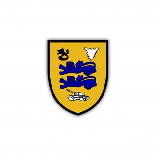 Aufkleber/Sticker PzBtl 164 Wappen Abzeichen Panzerbataillon BW 7x6cm A1244