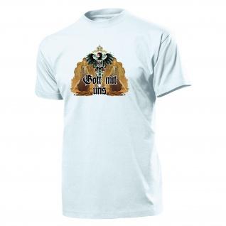 Germania Gott mit uns Preußen Deutsches Kaiserreich Deutschland T Shirt #14225