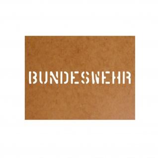 Schablone Bundeswehr Militär Ölkarton Lackierschablone 2, 5x20cm #15125